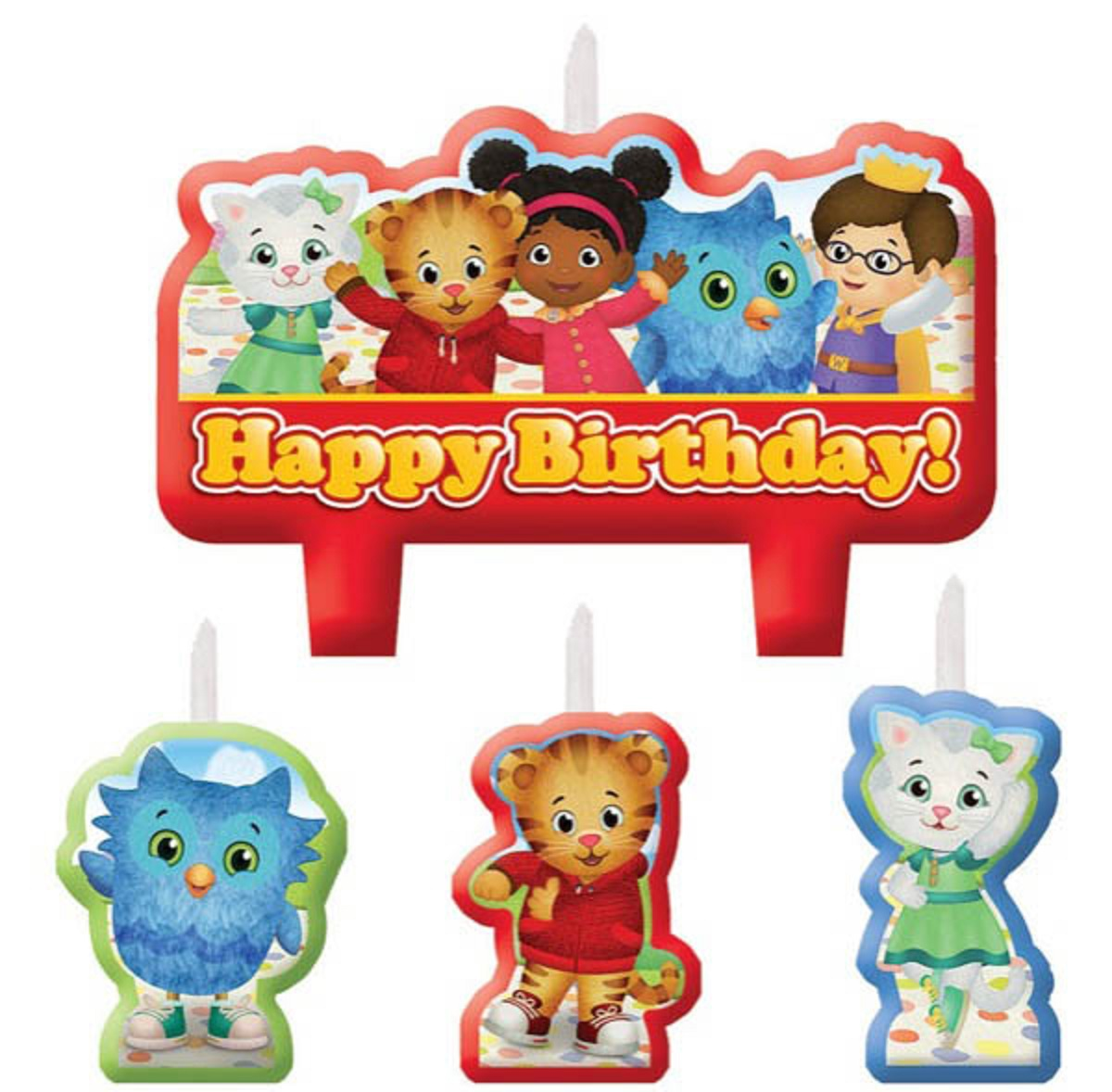 Daniel Tiger's Neighborhood Birthday Candles (4ct)