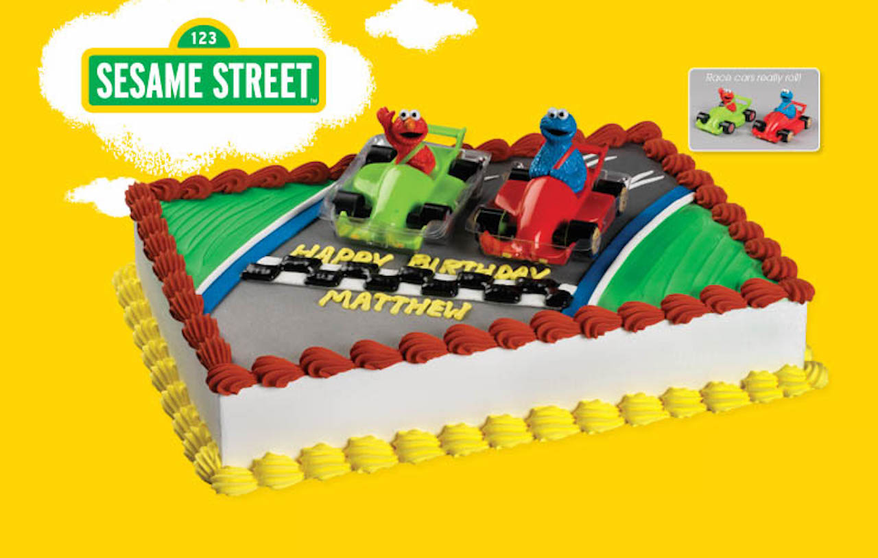 Sesame Street Elmo And Cookie Monster Racers Cake Decoration Topper Set 2pcs