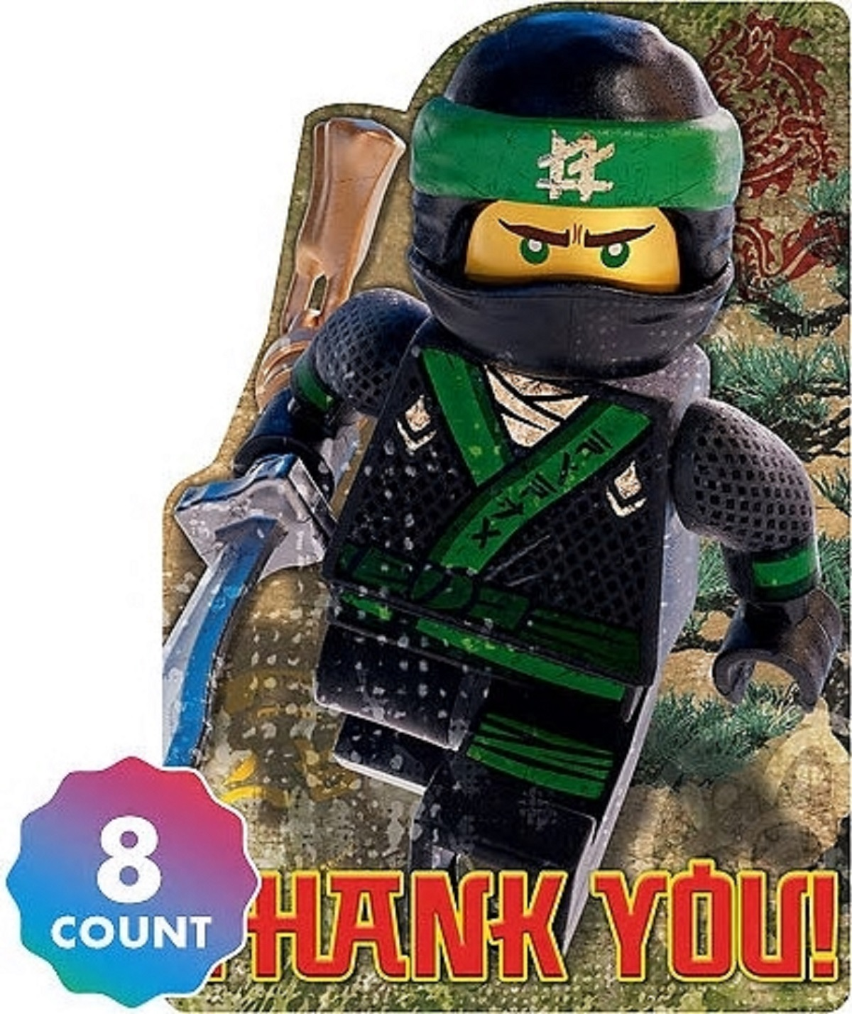 pack of 8 Party Favor Lego Ninjago Treat Cups