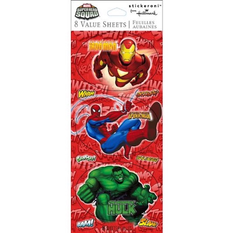 Marvel Superhero Squad Stickers (8 Sheets) Party Supplies