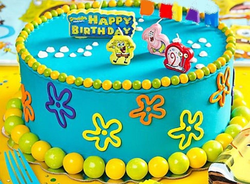 Tremendous Spongebob Squarepants Birthday Cake Candles Set 4Pcs Party Funny Birthday Cards Online Alyptdamsfinfo