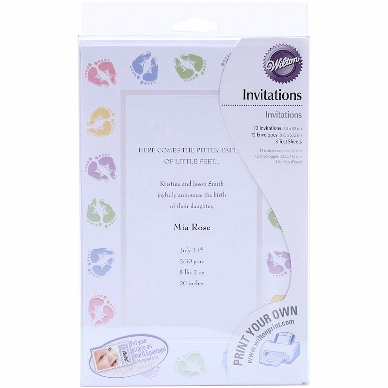 image regarding Printable Invitations Kit named Wilton Youngster Ft Printable Invitation Package (12ct) Social gathering Materials