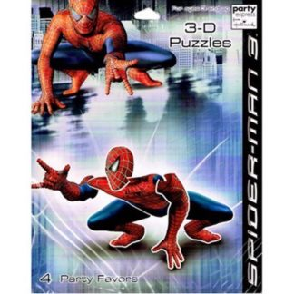 Amazing Spiderman 3 Movie 3d Puzzles 4ct Marvel Party Supplies