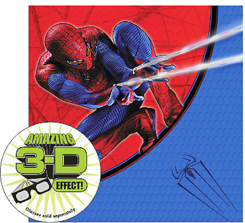 Amazing Spiderman 3d Lunch Dinner Napkins 16ct Marvel Party